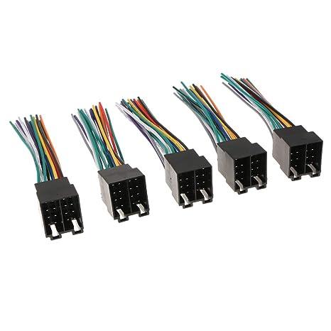 perfk Conector Adaptador de Enchufe de Cable ISO Radio Estéreo para Vehículo Autos
