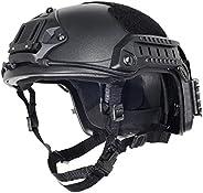 Black Free Size Tactical ABS Helmet (Black)