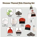 PEFECEVE 7 Pcs Kids Cleaning Set, Dinosaurs Kids