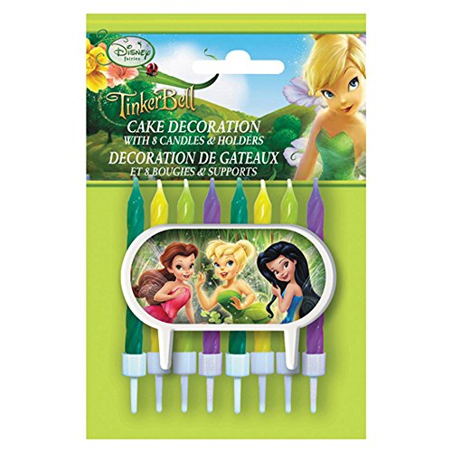 Disney Fairies Cake Topper & Birthday Candle Set