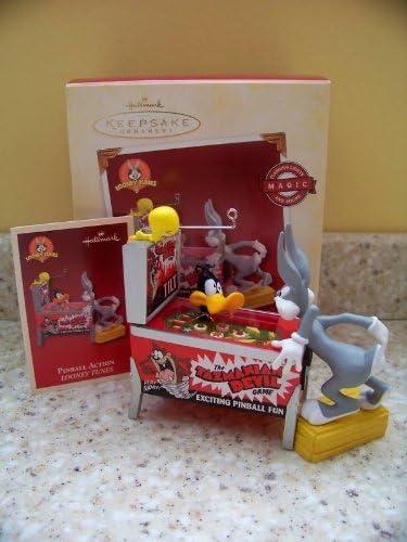 QXI8775 Looney Tunes Pinball Action Magic Flashing Lights and Sound 2005 Hallmark Keepsake Ornament
