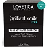 Teeth Whitening Charcoal Powder - Pure Natural Activated Coconut Charcoal Powder - Best for Teeth Stain Removal, Plaque or Bad Breath Care. Large Format 80gram (1 Year Supply)
