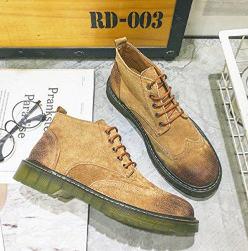 YELLOW Boots Casual Tooling Retro LINYIMen's Career Fashion Office Walking Sports Climbing Martin RUxPnw5WnO