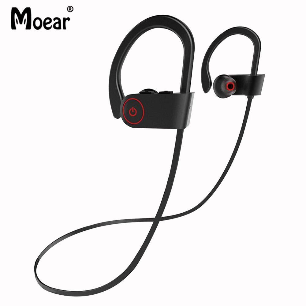 Moear Wireless in-Ear Stereo Bass Earbuds Sport Ear Hook Earphone Bluetooth 4.1