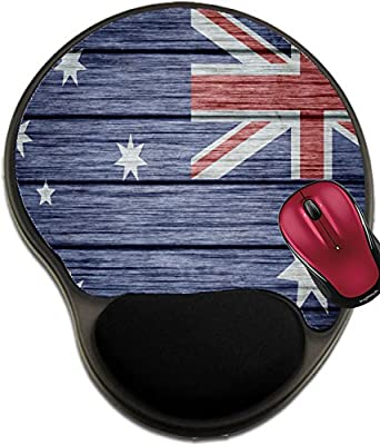 Liili Mousepad wrist protected Mouse Pads/Mat with wrist support design australian flag wood Background texture wood 27976694
