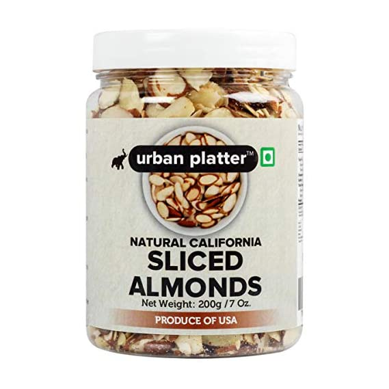 Urban Platter Sliced California Almonds, 200g
