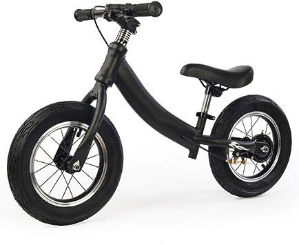 Bicicleta de Equilibrio for Niños Sin Pedal Rueda de Goma Ligera Niños 2-6 Años Marco de Aleación de Aluminio Niño Pequeño Bicicleta de Entrenamiento for Correr (Color : Black) : Amazon.es: