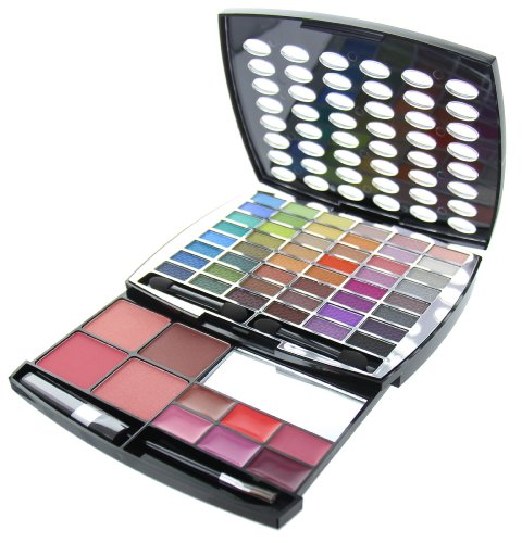 BR Beauty Revolution Glamour Girl Makeup Kit 43 Eyeshadow/9 Blush/6 Lip Gloss