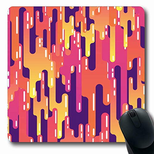 Ahawoso Mousepads for Computers Syrup Orange Trippy Sugar Candy Caramel Liquid Sweet Luscious Abstract Pink 60S Bright Child Oblong Shape 7.9 x 9.5 Inches Non-Slip Oblong Gaming Mouse Pad ()