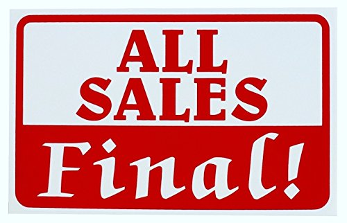 1 Pcs Awe Inspiring Unique All Sales Final Sign Store Customers Sale Signs Window Pricing Poster Retail Banner House Business Tags Decals Home Post Display Yard Signage Clearance Price Size 7 X11