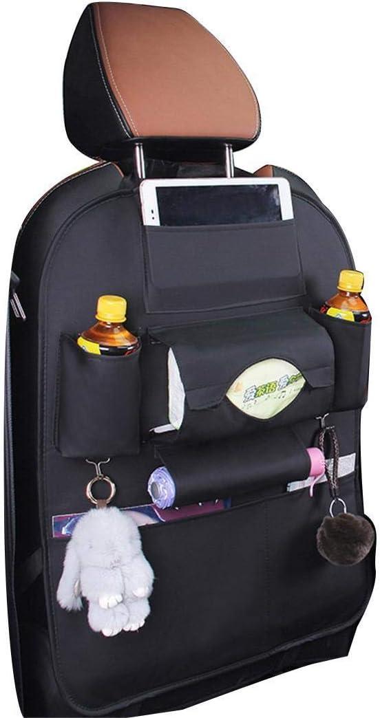 pioleUK Auto-R/ücksitz Multi-Pocket Organizer Getr/änkehalter Leder Aufbewahrungstasche Kofferraumtaschen