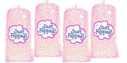 Pink Breast Cancer Awareness Baby Shower Colored Popcorn 4-Pack (72 Cups per Case) ()