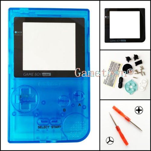 Gametown® Clear Light Blue Housing Shell Cover Case Replacement Parts For Nintendo Gameboy Pocket Console GBP System