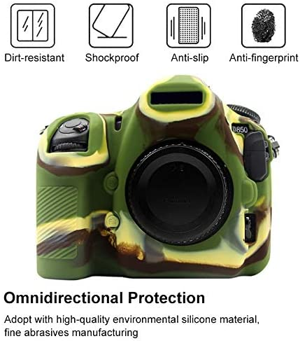 Camouflage Color : Yellow YANTAIANJANE Camera Accessories Soft Silicone Protective Case for Nikon D850