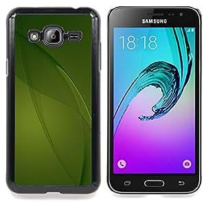 Stuss Case / Funda Carcasa protectora - Calma Green Nature líneas limpias - Samsung Galaxy J3 GSM-J300