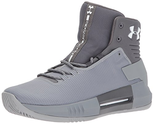 Under Armour Men's Team Drive 4 Basketball Shoe Steel (106)/Graphite 10