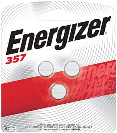 Energizer LR44 Battery, Silver Oxide 303, 357, AG13, or SR44 1.5 Volt Batteries (3 Count) - Packaging May Vary
