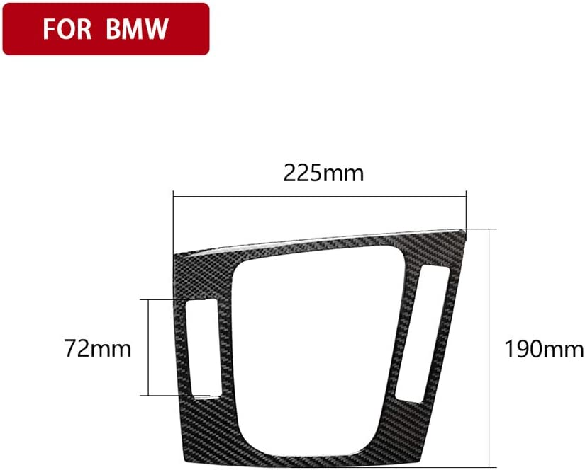 1998-2005 KKmoon Car Accessories Center Control Cover Left Real Carbon Fiber Gear Shift Panel Decorative Edge Strip Trim Replacement for BMW 3 Series E46