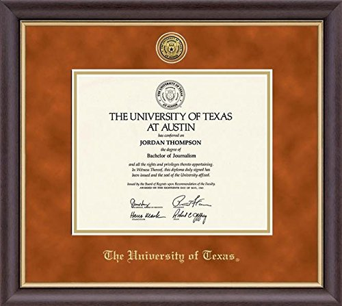 University of Texas Gold Medallion Diploma Frame by Church Hill Classics