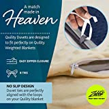 Quility Premium Adult Removable Duvet Cover for