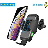 Wireless Car Charger, Qi Standard Auto-Clamp...
