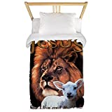 Twin Duvet Cover Jesus The Lion And The Lamb