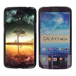 Caucho caso de Shell duro de la cubierta de accesorios de protección BY RAYDREAMMM - Samsung Galaxy Mega 6.3 - Galaxy Árbol