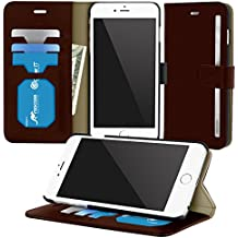 iPhone 6s Case, Apple iPhone 6s Wallet Case, rooCASE Prestige Leather PU Flip Wallet Case Folio Stand Lightwight Cover for Apple iPhone 6 / 6s (4.7), Brown