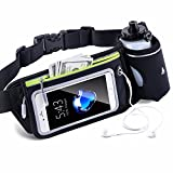 FANSONG Multifunctional Bike Handlebar Bag with Phone Touch Screen Window Waterproof Bucket Bag(Fit up to 5.5″ Phone), Black