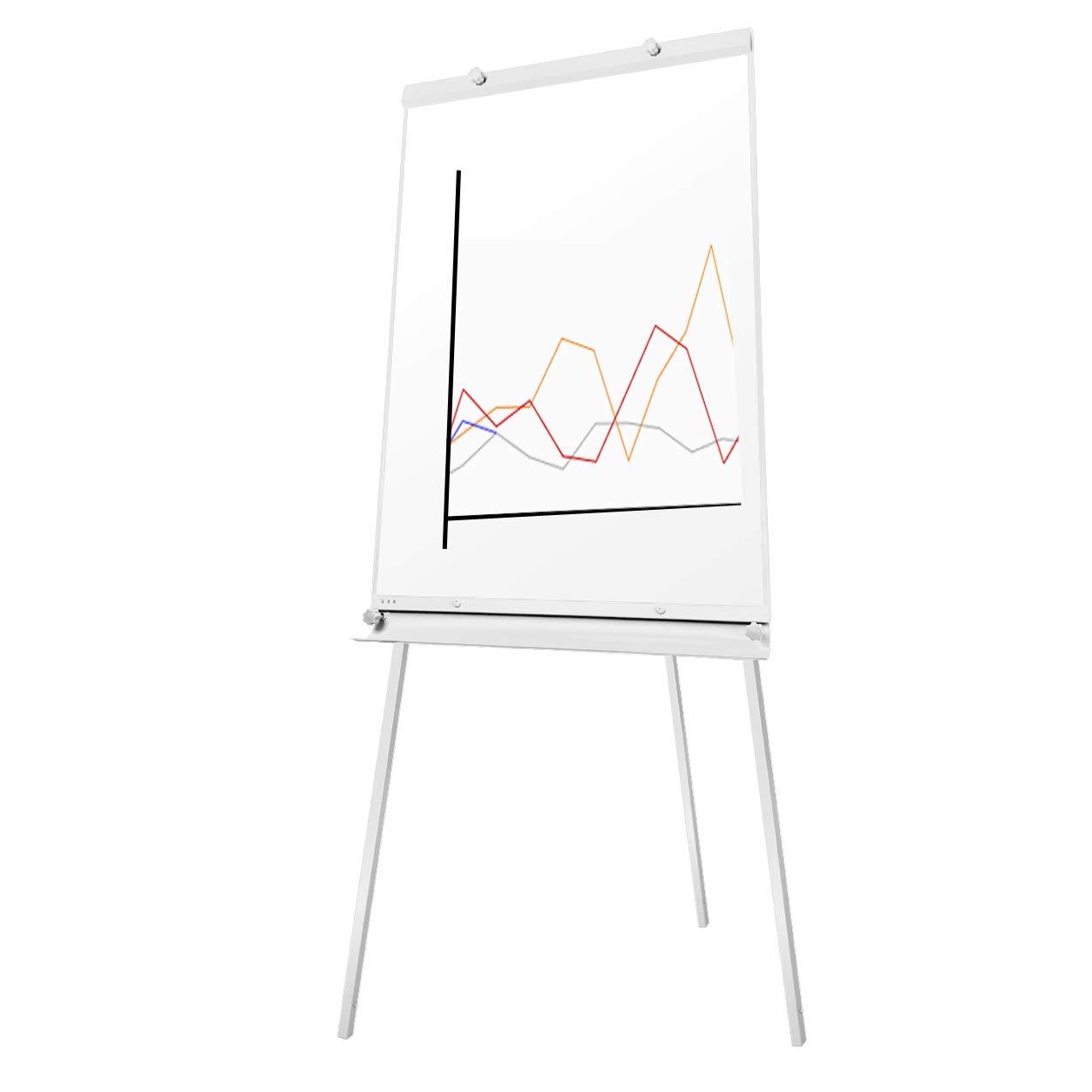 S SIENOC mobile Flipchart Whiteboard Magnetwand mit Alurahmen Magnetisch Whiteboard und Magnettafel Wei/ß lackiert WhiteBoard St/änder Einstellbar drehbar 70x100 cm