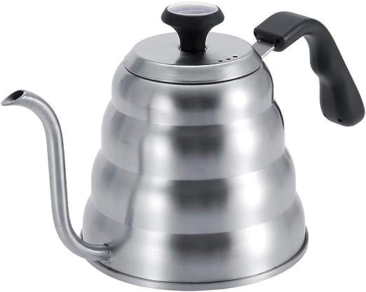 Cafetera de acero inoxidable Ichiias, tetera de café de acero ...