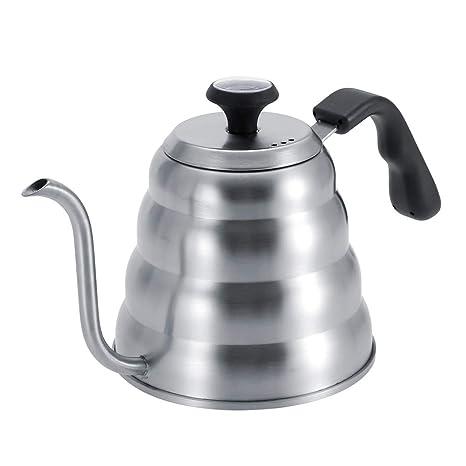 Pokerty Hervidor de café, Acero Inoxidable Cafetera de té ...