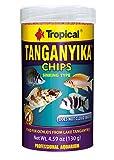 Tropical USA Tanganyika Chips Fish Food Tin, 130g