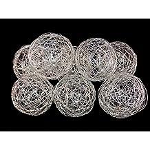 3'' Decorative Wire Ball Silver. Set of 8 Balls....