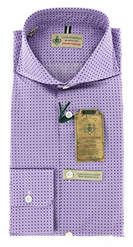 new-luigi-borrelli-lavender-purple-shirt-l-l
