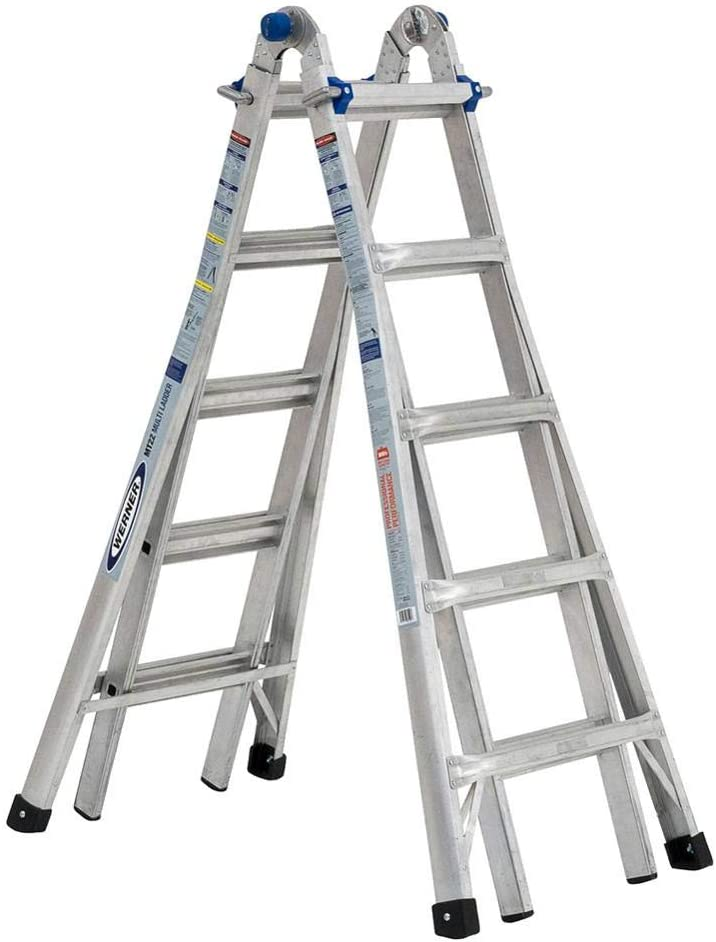 22 ft. Reach 5-in-1 Telescoping Aluminum Multi-Position Ladder with 375 lbs. Load Capacity Type IAA Duty Rating