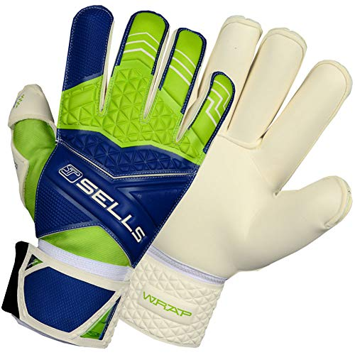 (Sells WRAP PRO Terrain Junior Goalkeeper Gloves Size 7 Green)