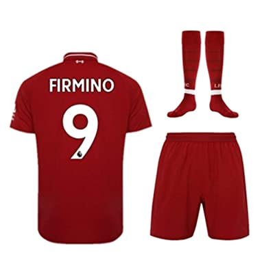 LISIMKE Soccer Team 2018 19 Liverpool Home Firmino  9 Kid Youth Replica Jersey  Kit d223f7fb2