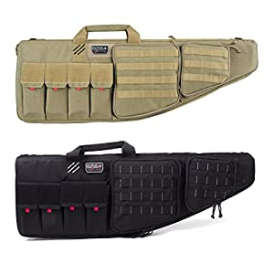 """G.P.S. Tactical 35"""" Weapons Case w/Outside Handgun Storage, Visual Storage ID"""