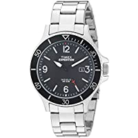 Men's TW4B10900 Expedition Ranger Silver/Black Stainless Steel Bracelet Watch