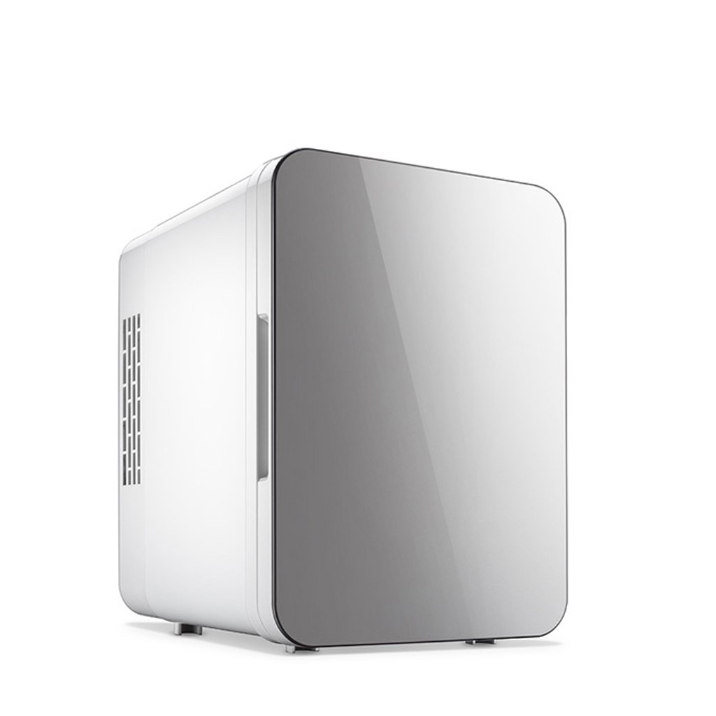 Sunhai 4L Refrigeration Car Refrigerator, Cold And Warm Car Home Dual Cabinet Type 220V AC / 12V DC ( Color : Gray )