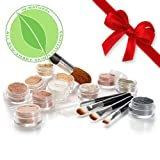 IQ Natural Sampler kit. IQ Bare pur minerals with 5pc brush set (Medium Shade...