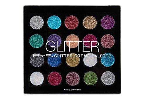 BYS Glitter Gel Makeup Palette - 20 Shades, Suitable to use on all areas of the face