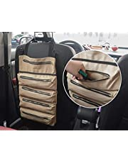 Tool Roll, MDSTOP Multifunctionele Tool Roll Up Bag, Wrench Roll Pouch, Waxed Canvas Tool Organizer Emmer, Tool Pouch Sling, Auto Back Seat Organizer (Khaki)