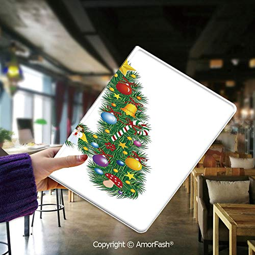Samsung Tab E 9.6 Case,Samsung Galaxy SM-560 Case,Tab E SM-T561 Cover,Letter A,Tree Star from Winter Celebrations Praying Angel Mini Stars Letter A Font Concept ()