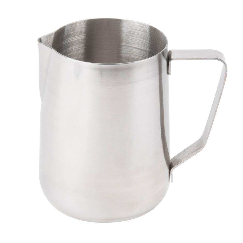 (Set of 12) 50-Ounce Milk Frothing Pitcher, 1500 ml. Large Milk Pitcher by Tezzorio, Stainless Steel Milk Steaming Frothing Pitchers for Espresso Machines, Milk Frother/Latte Art by Tezzorio Tabletop Service (Image #1)