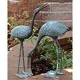 SPI Home BS3139 Stately Garden Cranes, Sculpture Set of 2 For Sale
