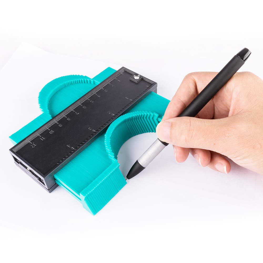 Template Tool Precisely Copies Irregular and Awkward Shapes 5 Inch 127mm Contour Duplicator Gauge Profile Gauge Measure Ruler for Precise Measurement Contour Gauge Must Have Handy Tool