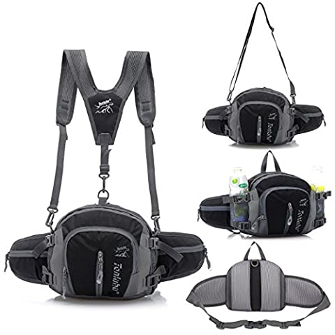 Multifunctional Waterproof Outdoor Waist Pack Backpack Shoulder Bag Daypack with Water Bottle Pockets Waist Bag Fanny Pack for Running / Hiking / Camping / Cycling / Traveling - Lumbar Pack
