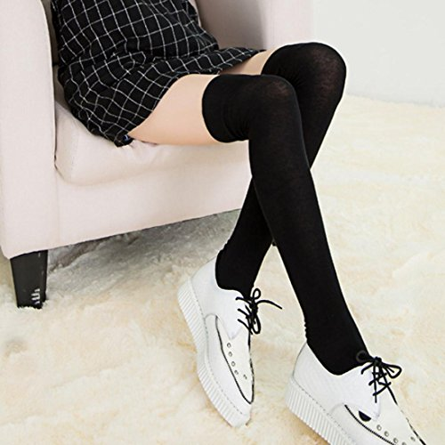 Sock Black Soft Winter Women Women's Cotton Crochet Knee Over Egmy Legging Leg Warmer Stockings Winter ZqnxBHw7S